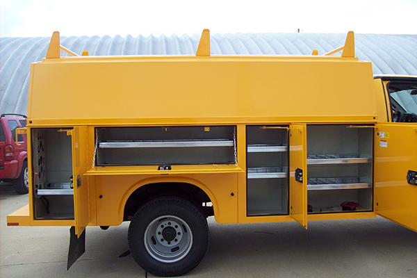 Steel version of a canopy service body