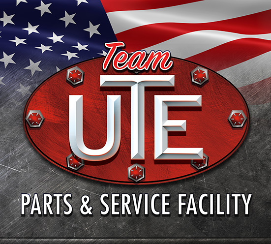 Team UTE Utility Truck Equipment service and parts facility logo